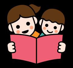 絵本を読む